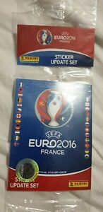 PANINI EURO 2016 UPDATE SEALED PACK OF STICKERS 84 TOTAL SEALED BRAND NEW