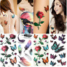 Women 3D Butterfly Flower Water Transfer Sticker DIY Body Art Temporary Tattoos