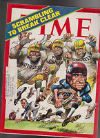 Time Magazine Jack Davis Football Cover Watergate  August 27 1973