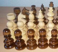 NUOVO handspindled fatto a mano handcrafted Hazel legno pezzo degli scacchi Set, RE è 3.62 in