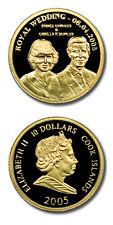 Cook Isl. Royal Wedding Prince Charles/C. Bowles $10 2005 1/25th Oz .999 Proof G