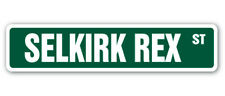 Selkirk Rex Street Sign cat breed feline kitty kitten| Indoor/Outdoor