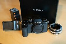Fujifilm X-S10 26.1MP Mirrorless Camera - Black (Body Only) with Extras