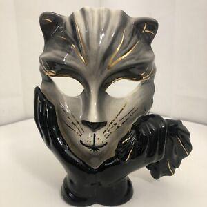 Vintage Ceramic Cat Mask - Mascara By Anton - Decor