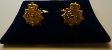 Military Cufflinks  Royal Marines Helmet Plate