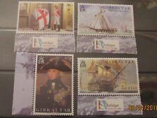 Gibraltar QEII 2005 Battle of Trafalgar Commemorative set. MNH. Superb.
