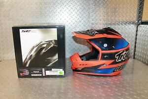 Troy Lee Designs SE3 Team Orange Blue Off-Road MX Helmet Small New 109005702