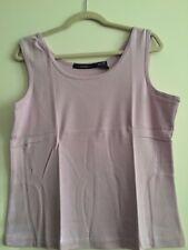 Denim 24/7 Women Large Top Tank Cami Scoop Neck Cotton White Black Blue Nude
