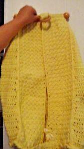 Handmade Crochet Pastel Yellow Handmade Diaper Hanger Stacker