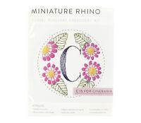 MINIATURE RHINO Monogram Embroidery Kit 'C' 134050