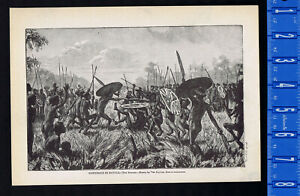 Borbobi Tribe Cannibals in Battle in Australia - 1915 Page of History