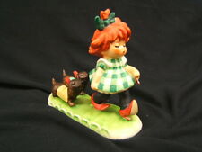 "Goebel Charlotte Byj ""Putting On The Dog"" Red Headed Figurine 1953 Vgck"