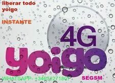 Liberar Yoigo  Lg , Samsung , Zte , Htc , Nokia , Alcatel , Huawei    RAPIDO