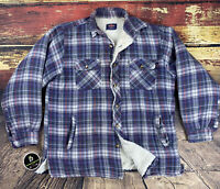 Mens M Big Yank Vintage Sherpa Lined Flannel Shirt Grunge Country Workwear Rare