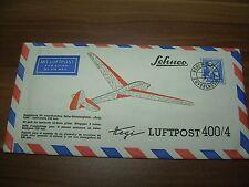 Schuco Hegi Luftpost 400/4 Balsa Miniaturgleiter Bergfalke in original Kuvert