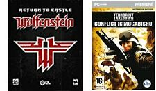 return to castle wolfenstein USED & terrorist takedown conflict in mogadishu NEW