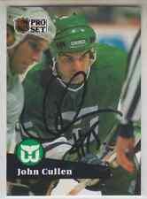 Autographed 91/92 Pro Set John Cullen - Whalers