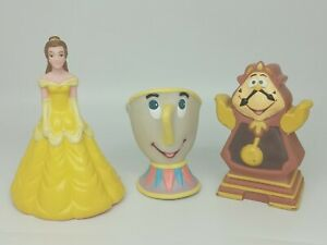 Vintage 1990s Pizza Hut Beauty And The Beast Puppets Belle Chip Cogsworth