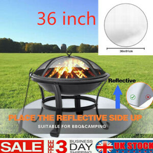 Fire Pit Mat Grill 24/36 Inch Round Deck Protector Fireproof Pit High Temp Mat