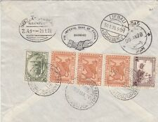 IRAQ  1928  BAGHDAD - CAIRO EGYPT AIR MAIL ROUTE REGISTERED COVER TO GERMANY