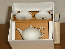WEDGWOOD  MINIATURE  TEA  SET  ORNAMENT  WHITE  -  NEW IN BOX