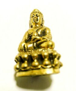 Thai Antique Phra Kring Buddha Grace Amulet Holy Talisman Fetish Magic Lucky