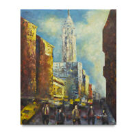 NY Art - Modern Art New York City Crew 20x24 Original Oil Painting - On Sale!!