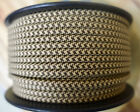 Brown/Tan 2-Wire Flat Cloth Covered Cord, 18ga Vintage Style Lamps, Nylon Fabric