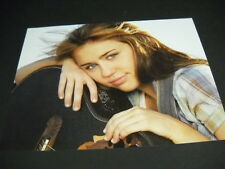 MILEY CYRUS rests her head on her guitar 2009 PROMO PHOTO DISPLAY AD mint cond