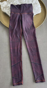 Niyama Sol Black/Wine Multi Stripe Legging Size XS EUC