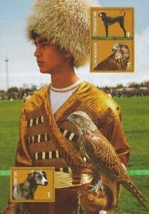 Turkmenistan 2013, Falcon, Dog, Block