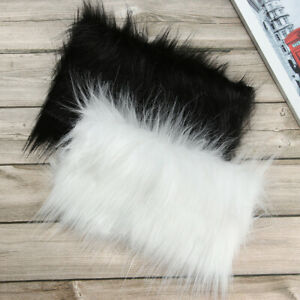 Faux Fur Fabric Plush Materials Sewing Garment Patches Soft Crafts DIY Patchwork
