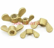 QTY5 Brass Wing Nuts Thumb Butterfly M8 Metric Threaded