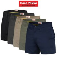 Mens Hard Yakka 3056 Short Shorts Cotton Ripstop Tradie Utility Stretch Y05115