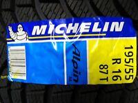1 winter reifen 195 55 16  R16 87T Michelin Alpin a4 bj 2011