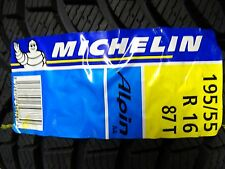1 winter reifen 195 55 16  R16 87T Michelin Alpin a4 neu bj 2011