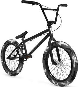 "Elite 20"" BMX Destro Bicycle Freestyle Bike 3 Piece Crank Black Camo NEW"