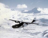 """Consolidated PBY-5A Catalina over the Aleutians 8""""x 10"""" World War II Photo 231"""