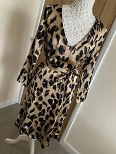 boohoo Leopard Print  dress size 8