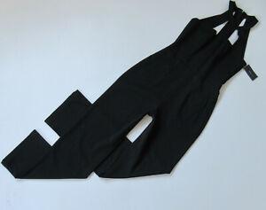 NWT BCBG MaxAzria Marlin in Black Straight Leg Cutout Jumpsuit XS x 31 ½ $298