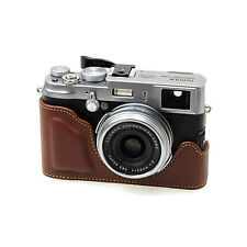 New Synthetic Leather HORUSBENNU Camera Half / Bottom Case for Finepix X100