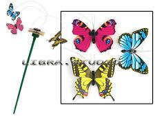 3 Solar Powered Flying Fluttering Butterflies Colorful for Garden Plants Decor