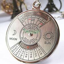 Cool Stylish 50 Year Calendar Key Chain Keyring Keyfob Metal Alloy Ring Compass