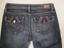 PAIGE PREMIUM DENIM FAIRFAX flap  pockets leather trim very stretchy jeans 26