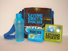 Tupperware USA Eco Blue Living Green Lunch Set With Messenger Bag - SALE!!