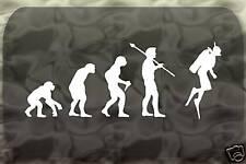 Scuba Dive Evolution Diving Sticker Man Decal