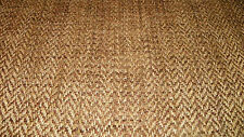 Brown Gold Herringbone Chenille Upholstery Fabric 1  Yard  R694