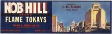 *Original* NOB HILL San Francisco CABLE CAR Grape MARK HOPKINS Label NOT A COPY!