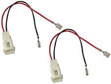 2 connecteurs adaptateurs de haut-parleurs enceintes pour Fiat Palio Mazda 323