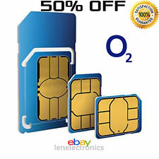 Oficial O2 Red Pay As You Go 02 Sim Card Sellado llamadas ilimitadas y textos *